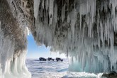 Ice of Baikal: a mirror of Great lake